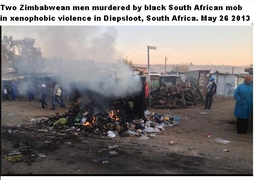 Two Zimbabwean men murdered by black South Africans